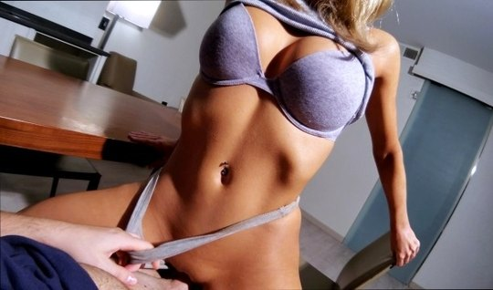 Athletic girl has long been waiting for home sex with a muscular dicky friend