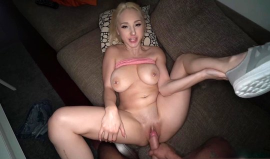 Big boobs of a blonde all the fucking from the first person are flying around